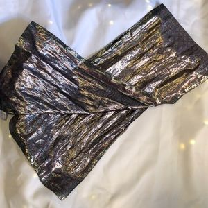 Oscar de La Renta metallic long scarf